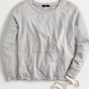 NYT J. Crew gray pocket sweatshirt Cloud fleece